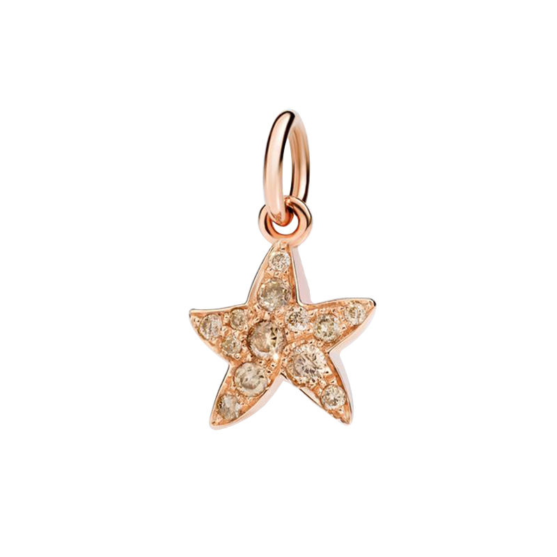 gioielliDonnaCharm Donna Dodo Stella marina diamante brown