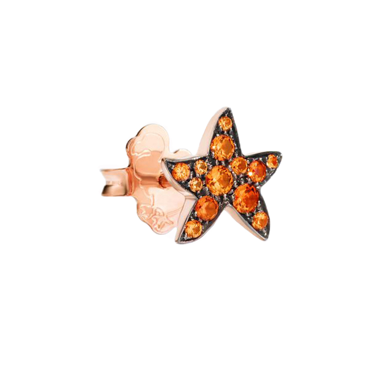 Orecchino Donna Dodo Stella marina zaffiro arancio