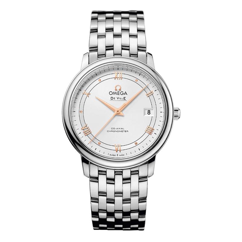 gioielli-e-orologiDonnaOmega De Ville Prestige Co‑Axial argento opalino