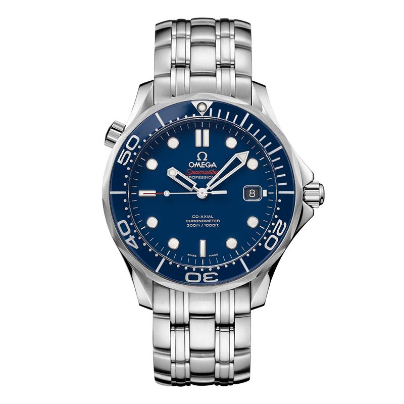 orologiUomoOmega Seamaster 300M Diver Co-Axial acciaio blu