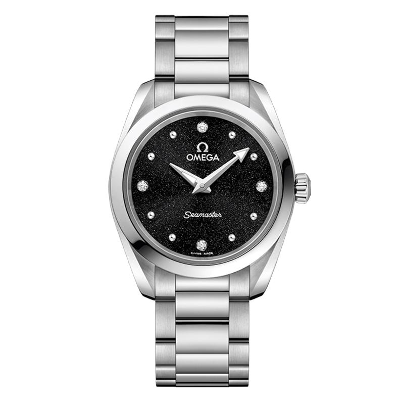 gioielli-e-orologiDonnaOmega Seamaster Aqua Terra 150m Quartz nero brillante