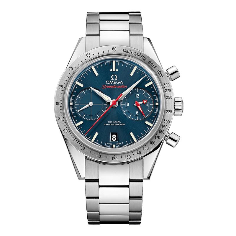orologiUomoOmega Speedmaster 57 Co-Axial Chronograph acciaio quadrante blu