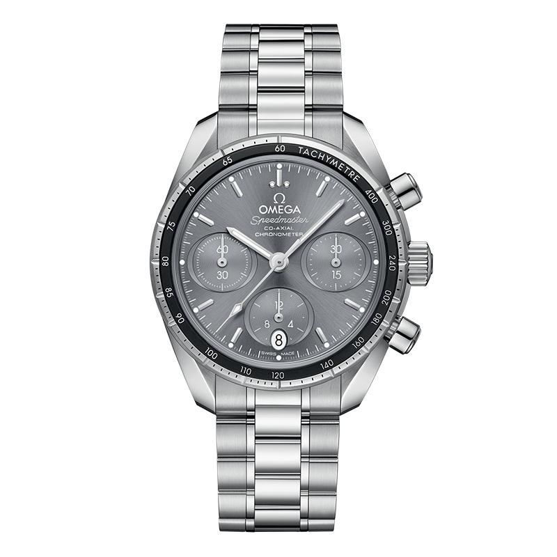 orologiUomoOmega Speedmaster Co‑Axial chronograph grigio spazzolato