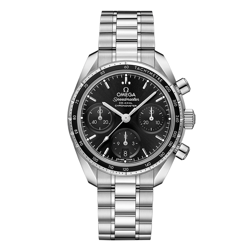 orologiUomoOmega Speedmaster Co‑Axial chronograph nero presenta