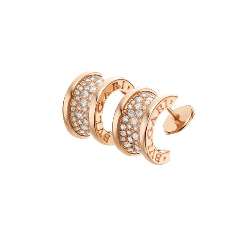 gioielliDonnaOrecchini Donna Bulgari B.zero1 oro rosa diamante
