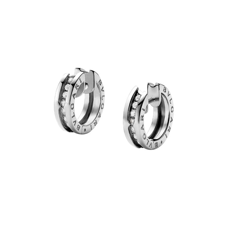 gioielliDonnaOrecchini Donna Bulgari B.zero1 piccoli oro bianco diamante