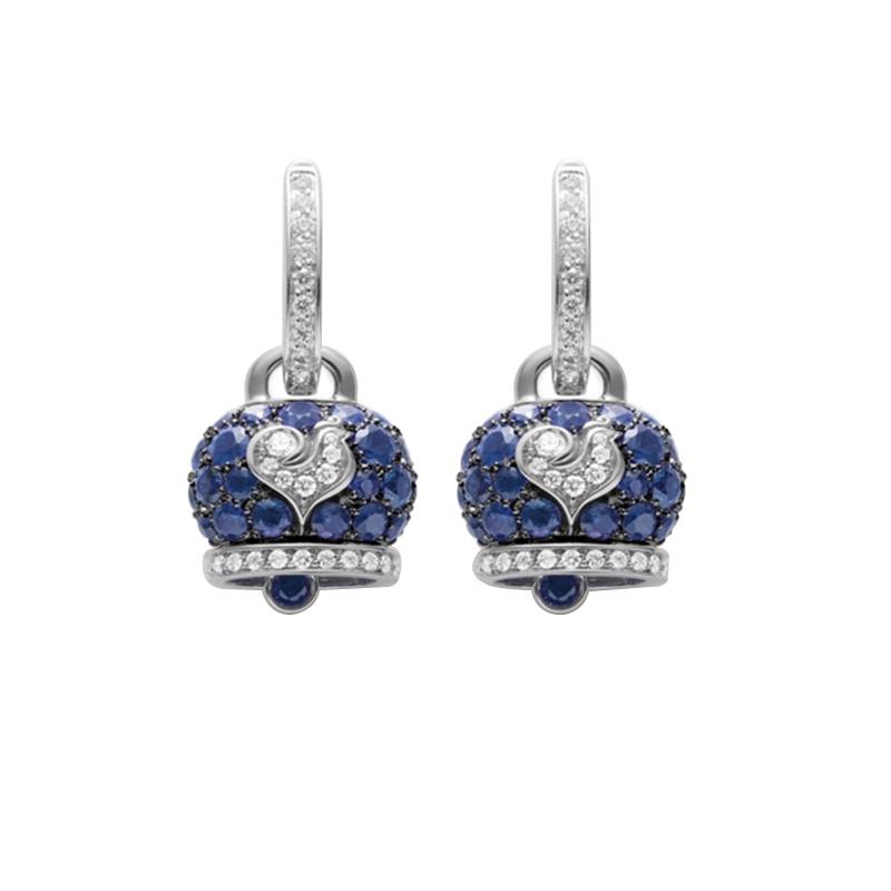 gioielliDonnaOrecchini Donna Chantecler Campanella medi zaffiro blu diamante