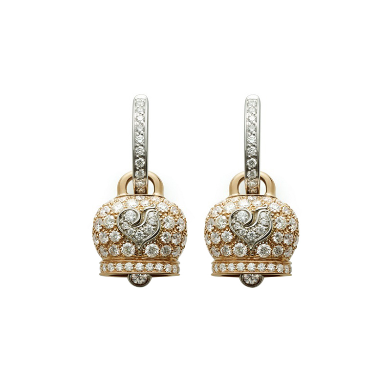 gioielliDonnaOrecchini Donna Chantecler Campanelle medi oro rosa diamante