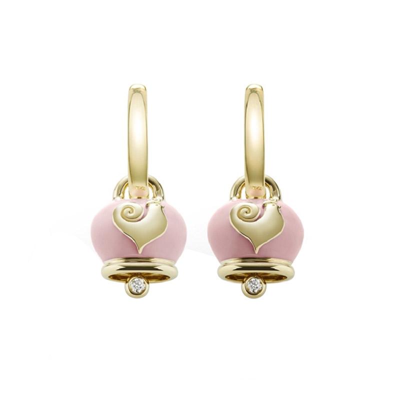 gioielliDonnaOrecchini Donna Chantecler Campanelle micro rosa