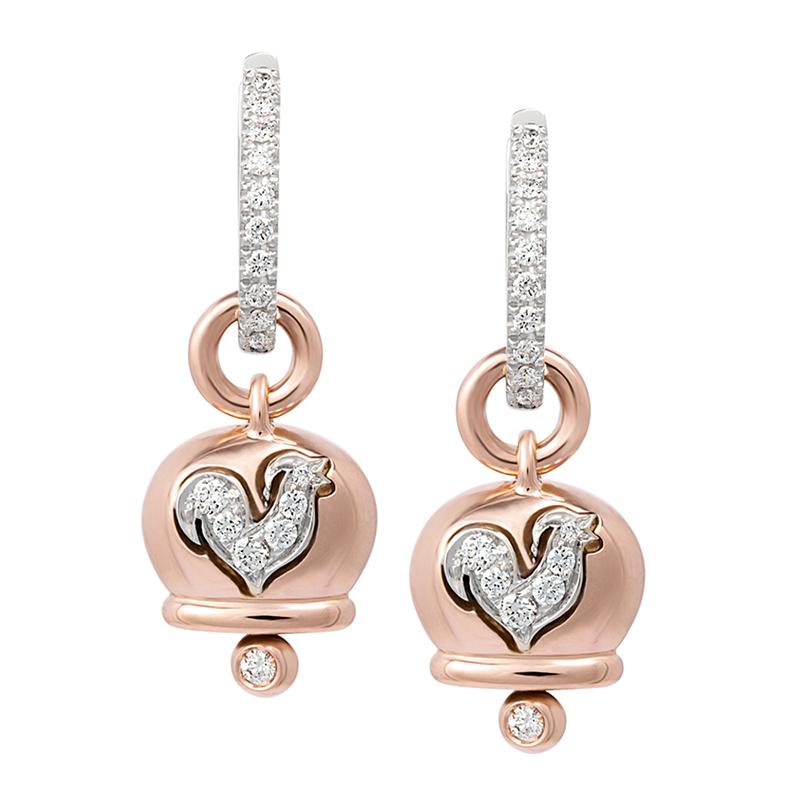 gioielliDonnaOrecchini Donna Chantecler Campanelle piccoli oro diamante