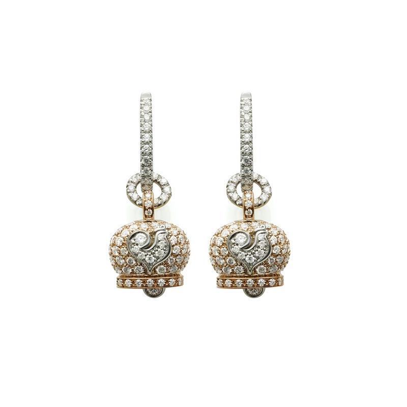 gioielliDonnaOrecchini Donna Chantecler Campanelle piccoli oro rosa diamante