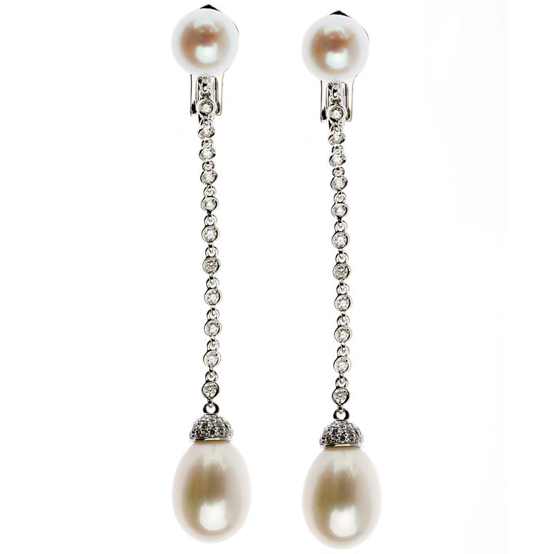 gioielliDonnaOrecchini Donna Chantecler Joyful lunghi perla freshwater