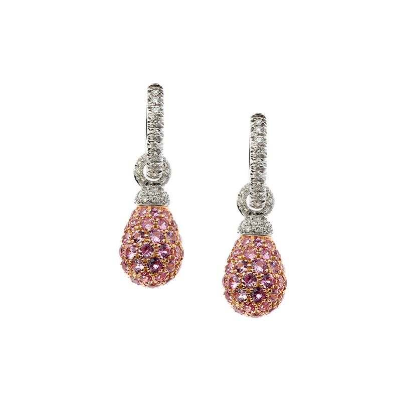 gioielliDonnaOrecchini Donna Chantecler Joyful zaffiro rosa