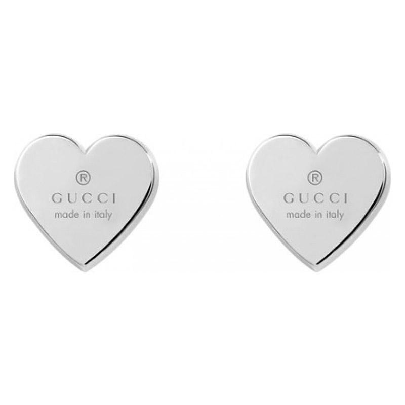 gioielli Donna Orecchini Gucci Cuore argento 91ee8b101c76