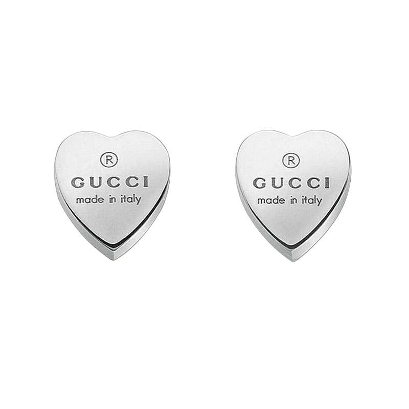 gioielliDonnaOrecchini Donna Gucci Trademark cuore argento