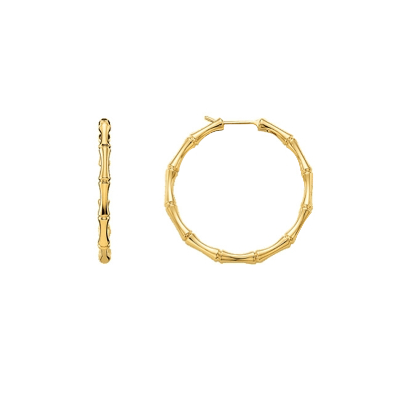 gioielliDonnaOrecchini Donna Gucci Bamboo Cerchio oro giallo