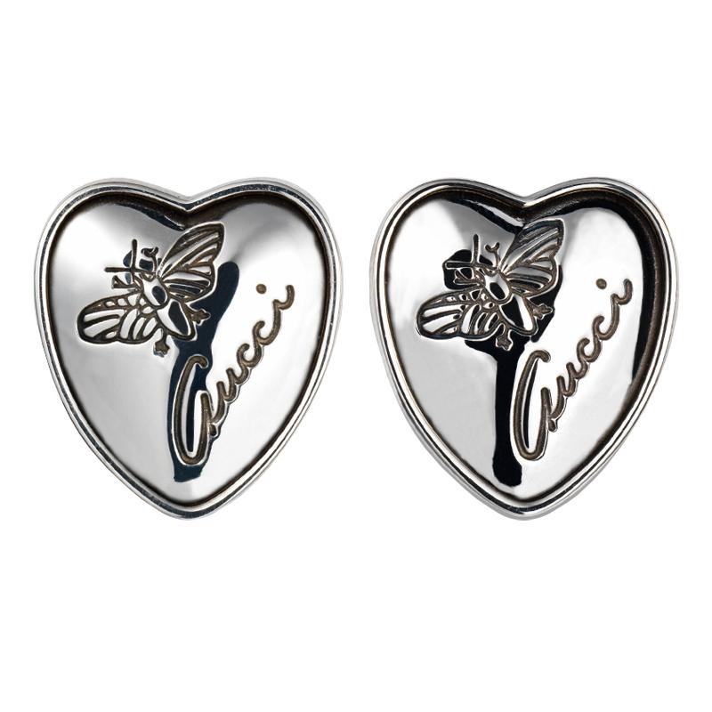 gioielliDonnaOrecchini Donna Gucci Flora con cuore in argento