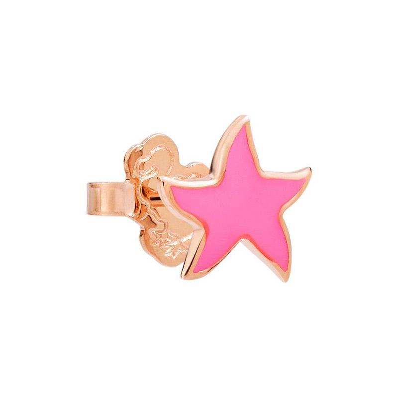 orologiDonnaOrecchini Donna Dodo Stella marina smalto rosa