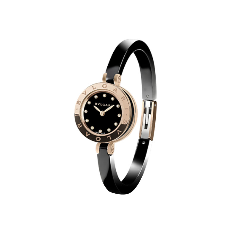 orologiDonnaOrologio Donna Bulgari B.zero1 oro rosa ceramica nera