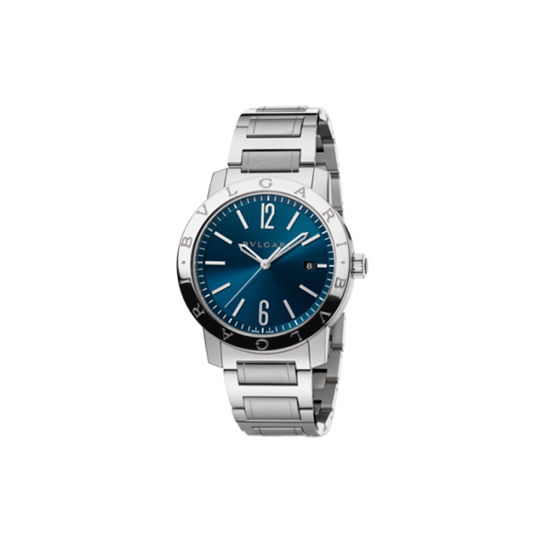 orologiUomoOrologio Bulgari-Bulgari Solotempo blu bracciale in acciaio