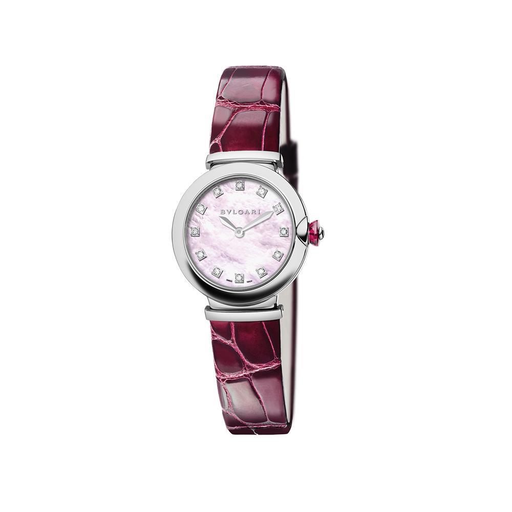 Orologio Bulgari Lvcea 28mm madreperla rosa