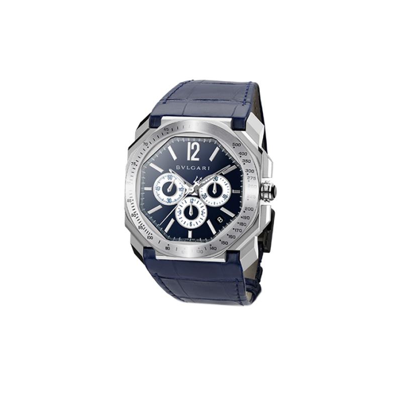 orologiUomoOrologio Bulgari Octo Velocissimo acciaio blu