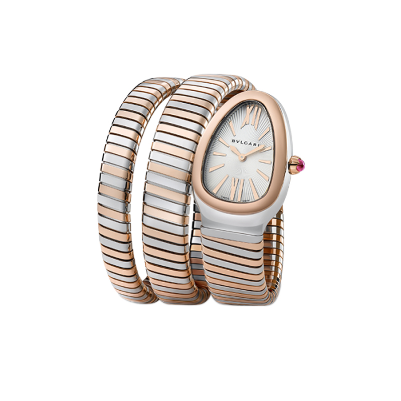 bulgari orologio serpente acciaio