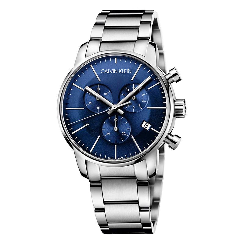 gioielli-e-orologiUomoOrologio Calvin Klein City blu cronografo