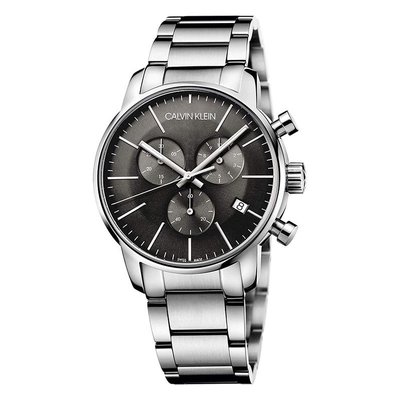 gioielli-e-orologiUomoOrologio Calvin Klein City grigio freddo cronografo