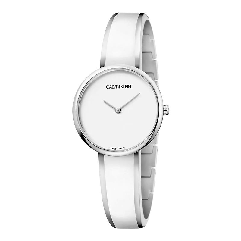 gioielli-e-orologiDonnaOrologio Calvin Klein Seduce resina bianca