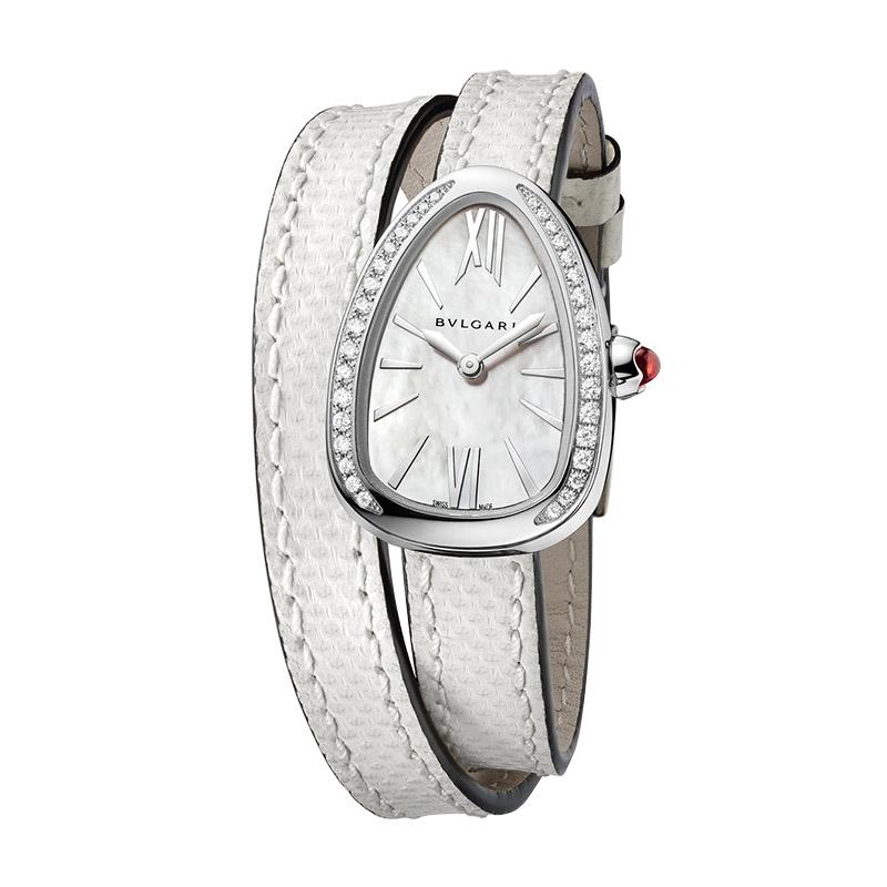 orologiDonnaOrologio Bulgari Serpenti acciaio diamante karung bianco