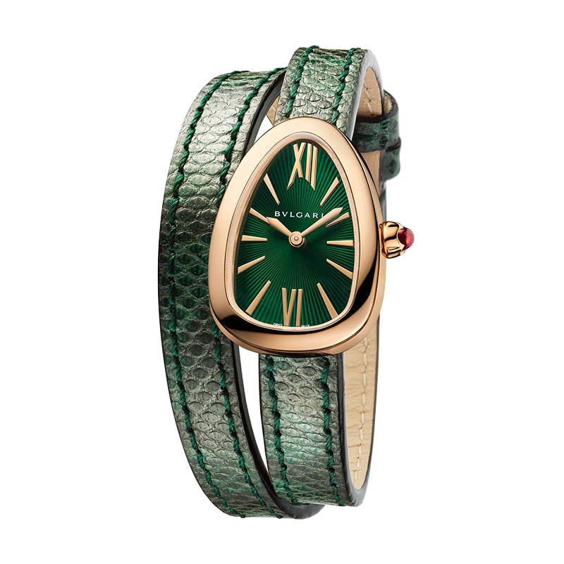 orologiDonnaOrologio Bulgari Serpenti oro rosa karung verde