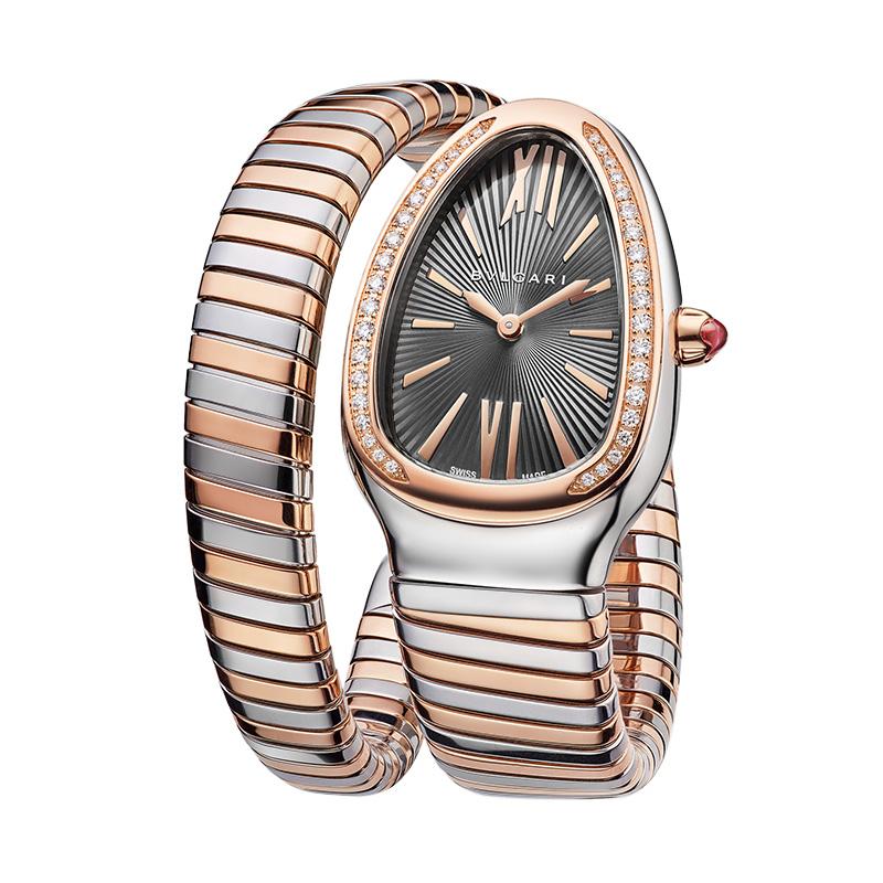 orologiDonnaOrologio Donna Bulgari Serpenti Tubogas oro acciaio diamante
