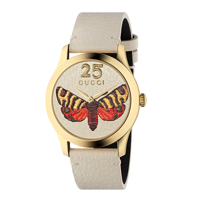 orologi Donna Orologio Donna Gucci G-Timeless falena pelle bianca