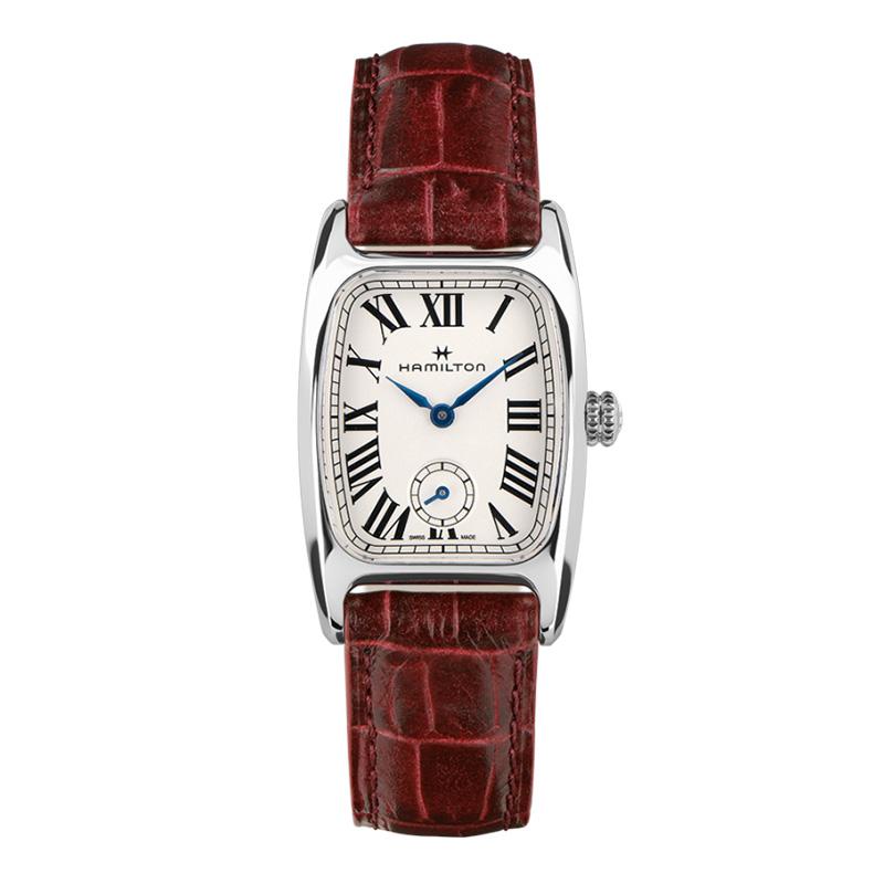 gioielli-e-orologiUomoOrologio  Hamilton American Boulton cinturino rossiccio