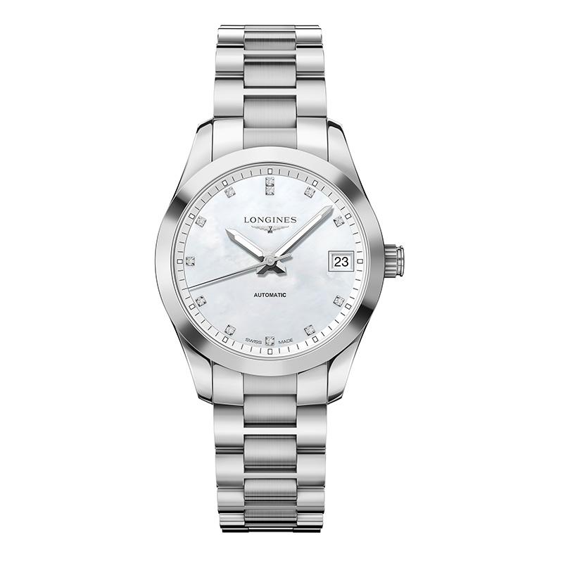 gioielli-e-orologiDonnaOrologio Donna Longines Conquest Classic automatic madreperla diamante