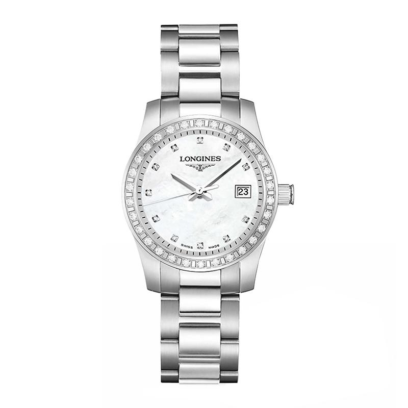 orologiDonnaOrologio Donna Longines Conquest Classic diamante madre perla