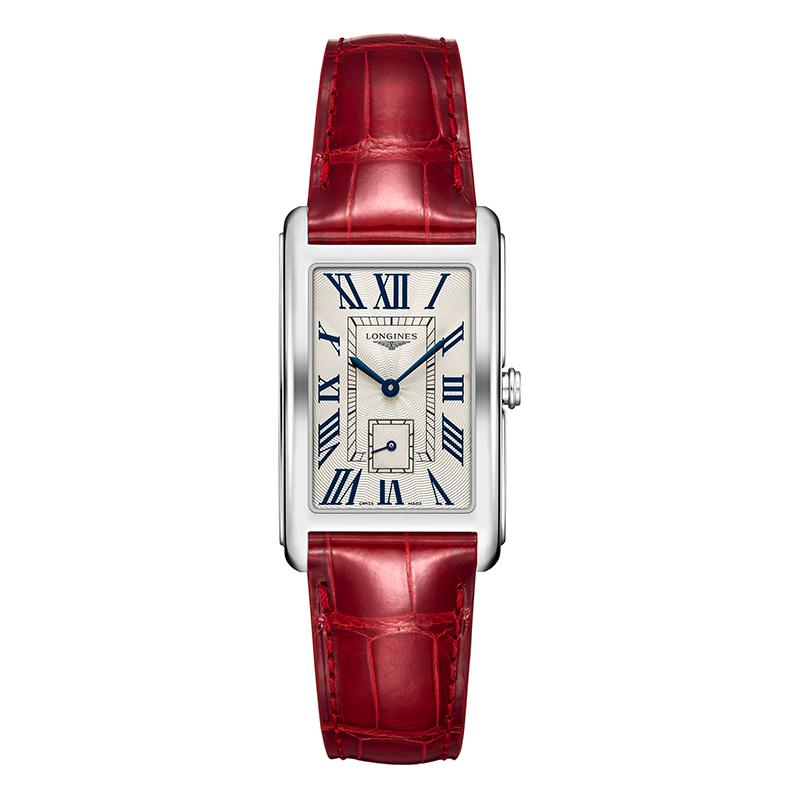 orologiDonnaOrologio Donna Longines Dolcevita cinturino rosso
