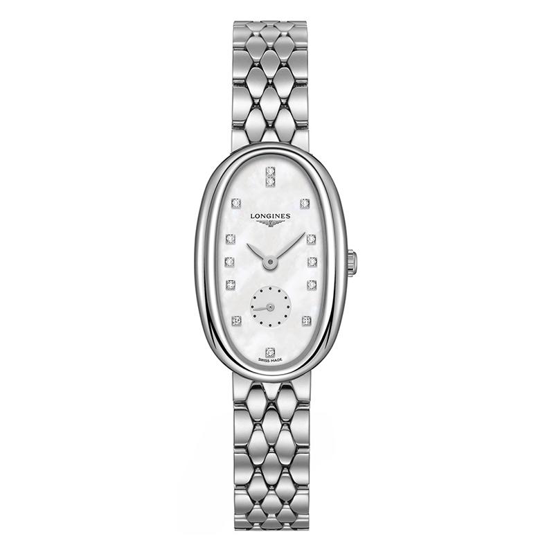 orologiDonnaOrologio Donna Longines Symphonette acciaio diamante