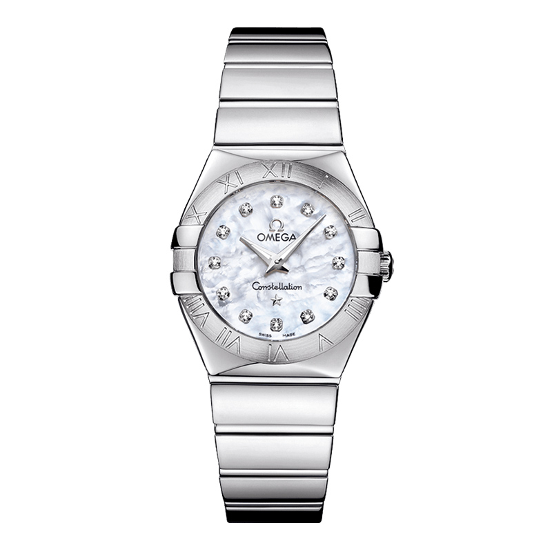 orologi Donna Omega Constellation Quartz acciaio madreperla