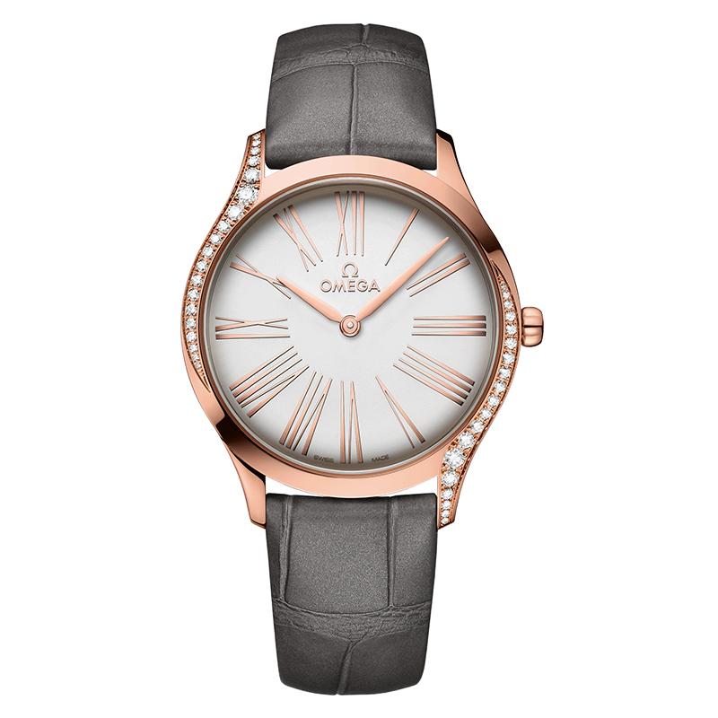 gioielli-e-orologiDonnaOrologio Donna Omega De Ville Trésor quartz oro rosa argento