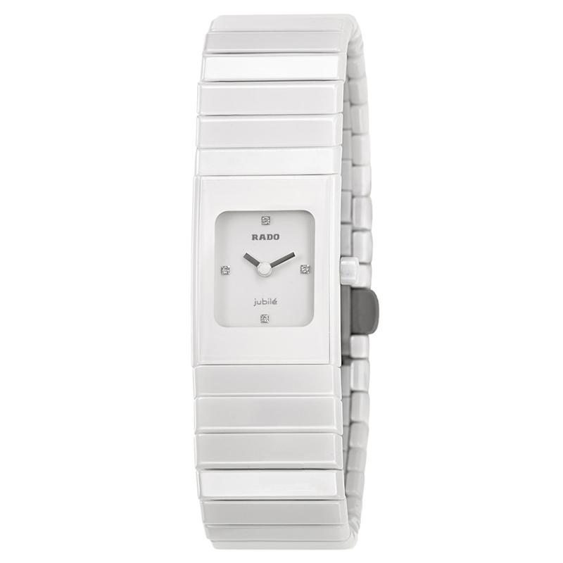 gioielli-e-orologiDonnaOrologio Donna Rado Jubilé quadrato ceramica bianca