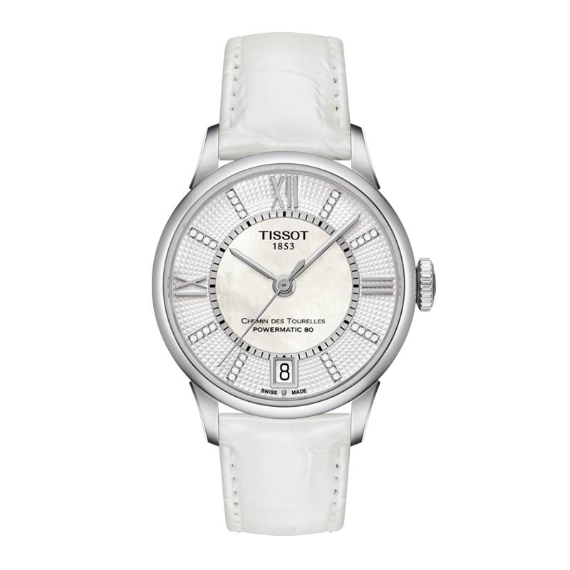 gioielli-e-orologiDonnaOrologio Donna Tissot Chemin des Tourelles powermatic 80 madreperla bianca