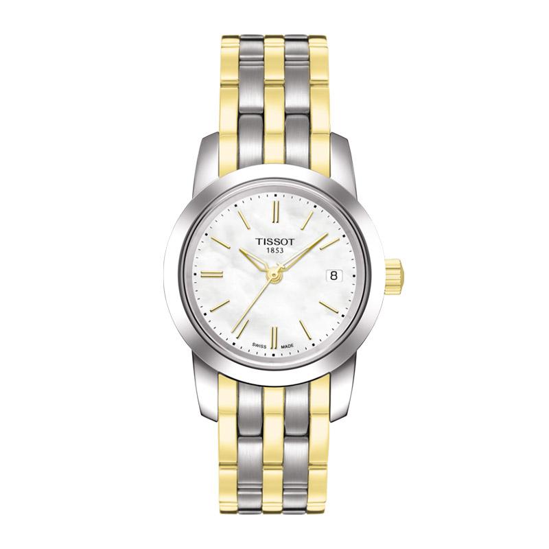 orologiDonnaOrologio Donna Tissot Classic Dream acciaio e oro giallo PVD