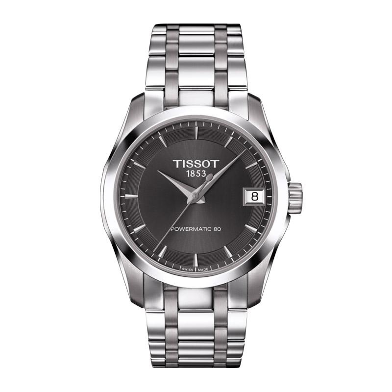 gioielli-e-orologiDonnaOrologio Donna Tissot Couturier Powermatic 80 antracite