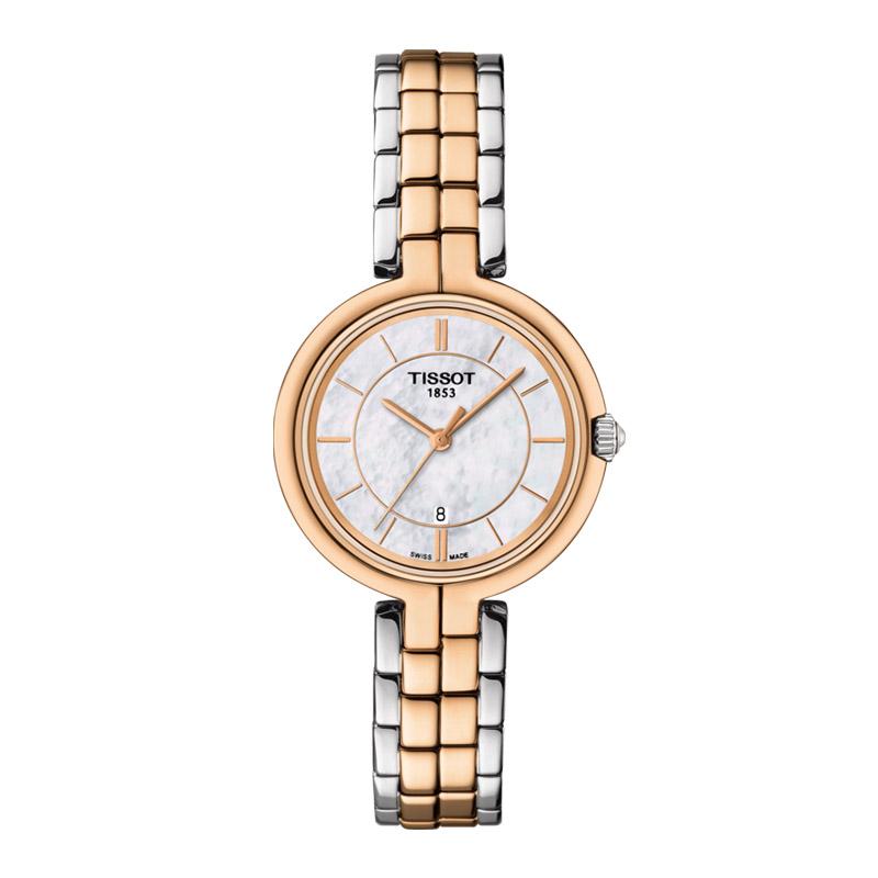 gioielli-e-orologiDonnaOrologio Donna Tissot Flamingo acciaio e oro rosa PVD