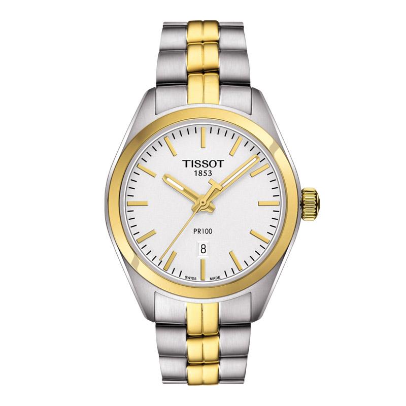 orologiDonnaOrologio Donna Tissot PR 100 oro giallo PVD