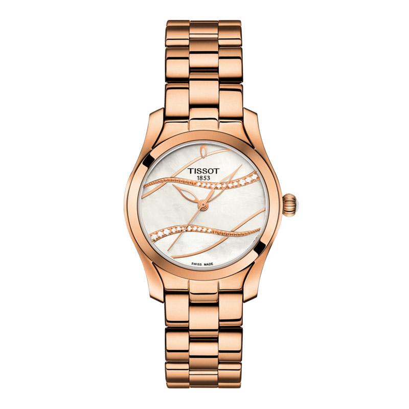 gioielli-e-orologiDonnaOrologio Donna Tissot T-Wave oro rosa PVD