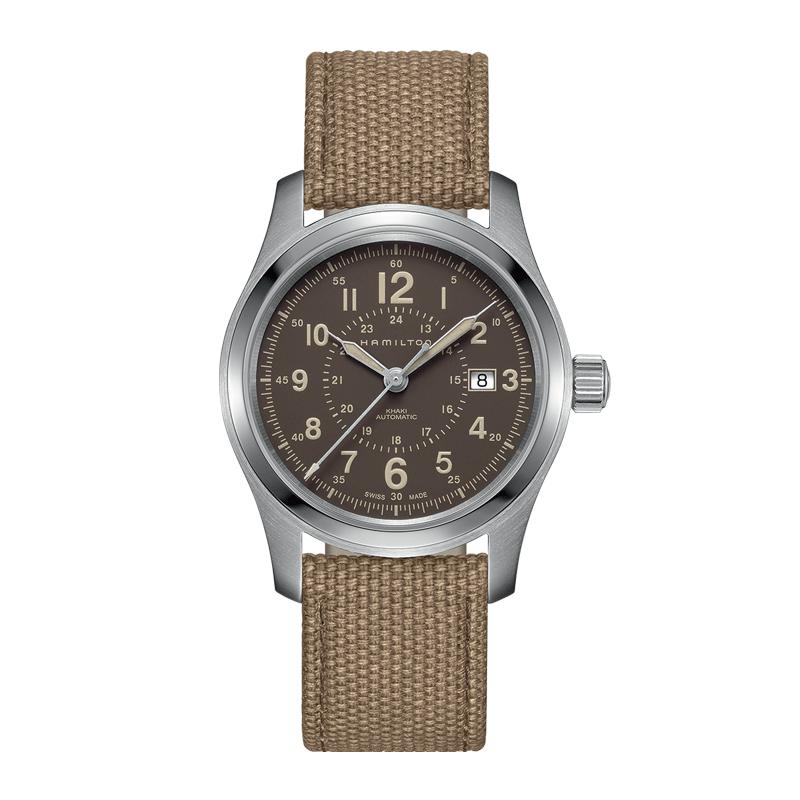 gioielli-e-orologiUomoOrologio  Hamilton Khaki Field marrone