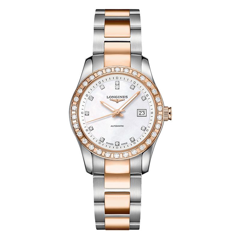 gioielli-e-orologiDonnaOrologio Longines Conquest Classic automatic diamond
